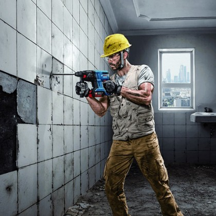 BOSCH Cordless Rotary Hammer with SDS plus GBH 180-LI (4.0Ah) Professional